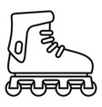 glide inline skates icon outline style vector image