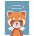 guardian angel red panda vector image vector image