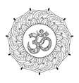 Hand drawn Ohm symbol indian Diwali spiritual vector image vector image