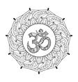 hand drawn ohm symbol indian diwali spiritual vector image vector image
