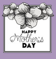 happy mothers day frame with flowers vector image vector image