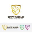 hawk shield logo design vector image vector image