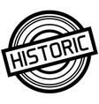 Historic typographic stamp vector image