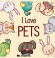i love pets vector image