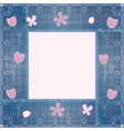 jeans border embroidery vector image vector image