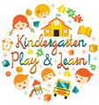Kindergarten Preschool Kids Heading vector image vector image