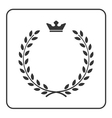 Laurel wreath icon crown flat symbol victory vector image