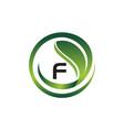 leaf initial f logo design template vector image vector image