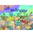 Life under water vector image vector image