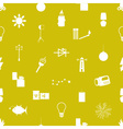 light theme modern simple icons seamless pattern vector image vector image
