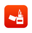 lighter icon digital red vector image vector image