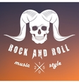 logo rock music vector image