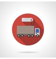 Lorry for sale red round flat color icon vector image