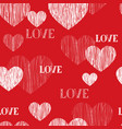 love heart seamless pattern happy valentines day vector image vector image