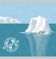 melting icebergs signs climate change vector image