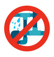 no water leak pipe icon sign vector image