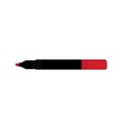 Opened red marker vector image