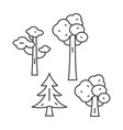 park trees thin line icon concept park trees vector image vector image