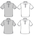 polo shirt set vector image vector image