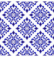 porcelain damask pattern vector image vector image
