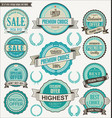 retro vintage blue badge and labels collection vector image vector image