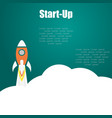rocket start up on a white background vector image vector image