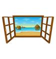 Sea View Window vector image vector image