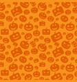 seamless pattern background with orange halloween vector image