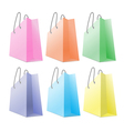 set colourful shopping bags isolated on white vector image