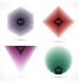set of abstract geometric layered banners vector image