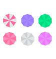 set of beach umbrellas vector image vector image