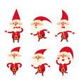 set of cute santa cartoon vector image