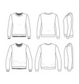 set of sweatshirts vector image vector image
