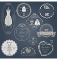 Set of vintage wedding and wedding fashion style vector image vector image