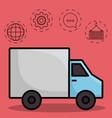 shipping logistics design vector image vector image