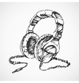 Sketched headphones vector image