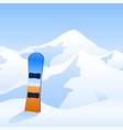 ski resort snowboard on hillside and mountain vector image vector image