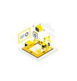 software development technological conveyor icon vector image vector image