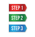 Step One Two Three progress vector image vector image