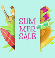 summer sale banner brochure flyer poster best vector image