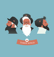 three hipsters kings-01 vector image