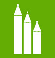 three pencils icon green vector image vector image