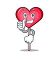 thumbs up heart lollipop character cartoon vector image
