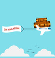 travel around world and vacation time flat vector image