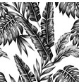 tropical plants trendy seamless background vector image vector image