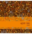 Twigs pattern Orange brown background with strip vector image