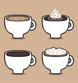 Variety of coffee vector image
