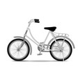 vintage bicycle on white background vector image vector image