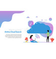web header template cloud search in flat vector image vector image