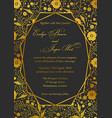 wedding invitation poppy floral invite card vector image